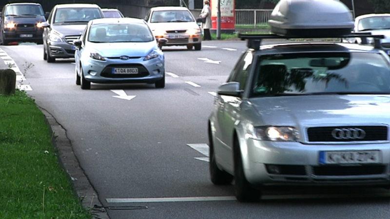 Umweltspuren in Düsseldorf (Foto: SAT.1 NRW)