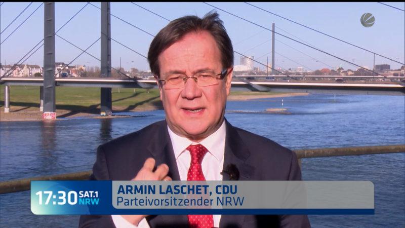 Interview mit Armin Laschet CDU (Foto: SAT.1 NRW)