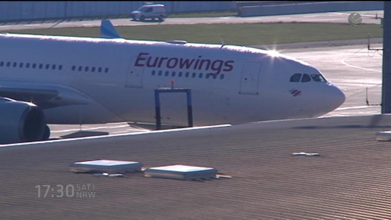 Flug mit 68 Stunden Verspätung (Foto: SAT.1 NRW)