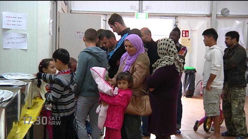 Verteilung der Flüchtlinge (Foto: SAT.1 NRW)
