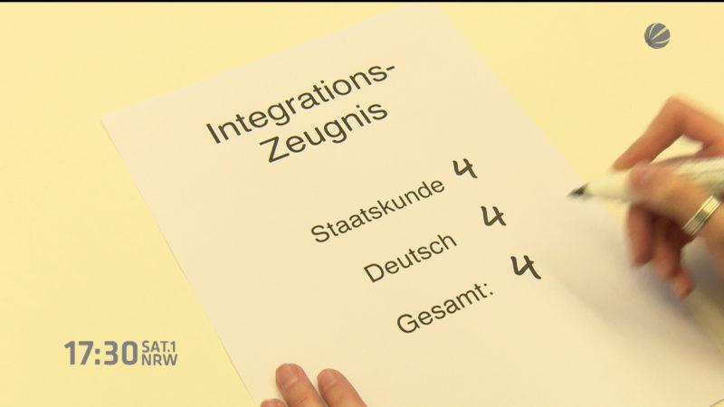 Zeugnisse für Flüchtlinge gefordert (Foto: SAT.1 NRW)