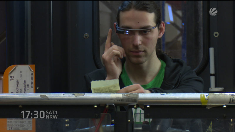 Datenbrillen im Arbeitsalltag (Foto: SAT.1 NRW)