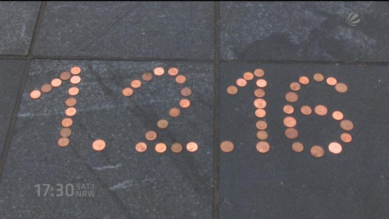 Kein Kleingeld mehr in Kleve (Foto: SAT.1 NRW)