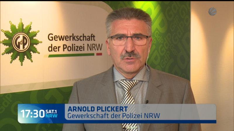 Interview mit GdP zu Übergriffen in Köln (Foto: SAT.1 NRW)
