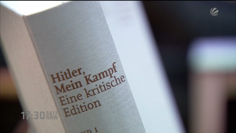 """Sollte """"Mein Kampf"""" gelesen werden? (Foto: SAT.1 NRW)"""