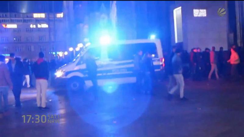 Schreckens-Protokoll der Kölner Polizei (Foto: SAT.1 NRW)