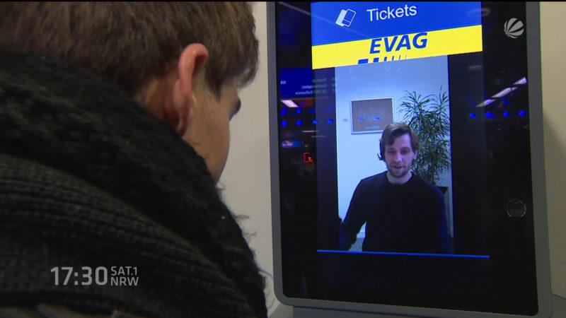 Deutschlandweit erstes Video-Terminal in Essen (Foto: SAT.1 NRW)