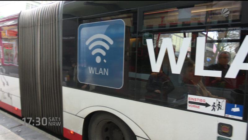 Internet in Bussen (Foto: SAT.1 NRW)