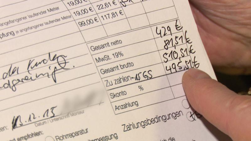 Dreiste Handwerker-Abzocke in Bielefeld? (Foto: Sat.1 NRW)