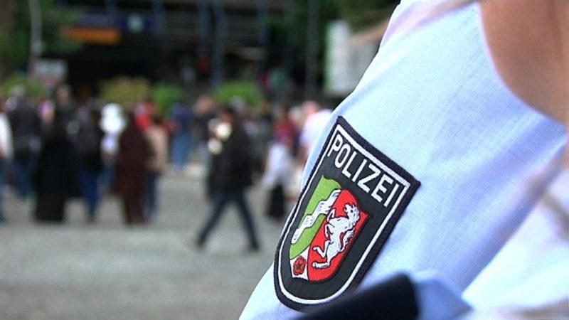 NRW-Polizisten vor WM-Einsatz (Foto: SAT.1 NRW)