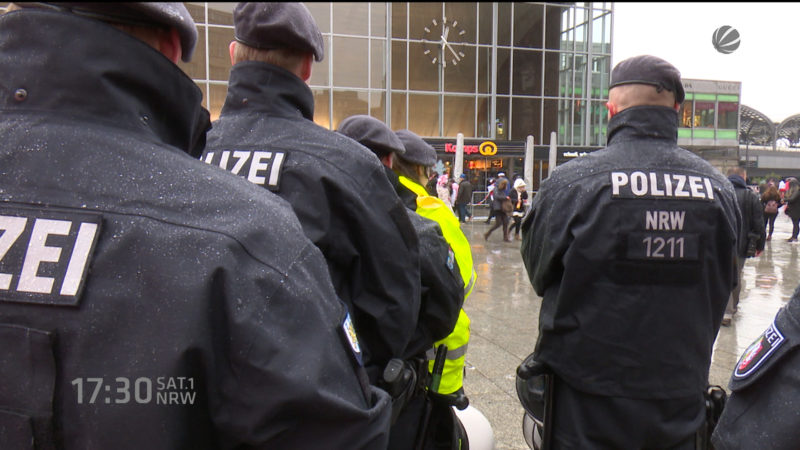 Sicherheit zum Karneval in Köln (Foto: SAT.1 NRW)