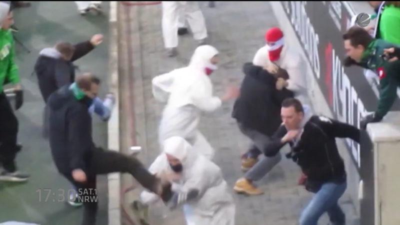 Mönchengladbach zittert vor Fan-Demo (Foto: SAT.1 NRW)