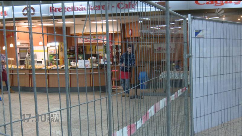 Baustelle bringt Einzelhändler in Existenzängste (Foto: SAT.1 NRW)