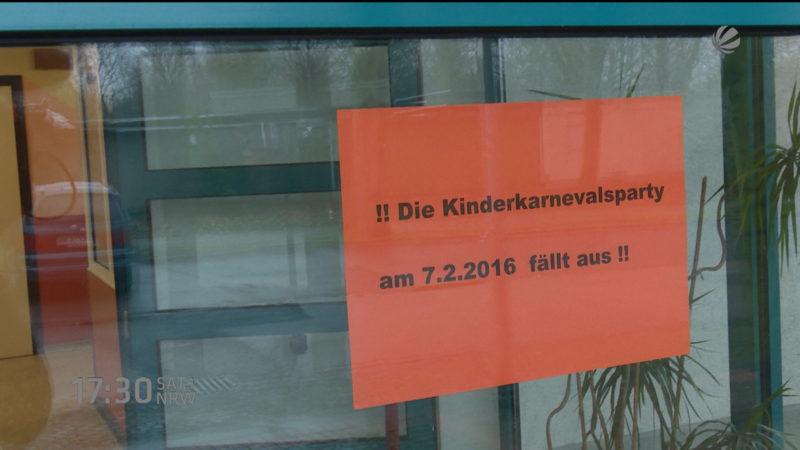 Kinderkarneval wegen Anschlagsdrohung abgesagt (Foto: SAT.1 NRW)