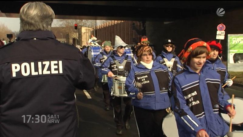 Sicherheit im Kölner Karneval (Foto: SAT.1 NRW)