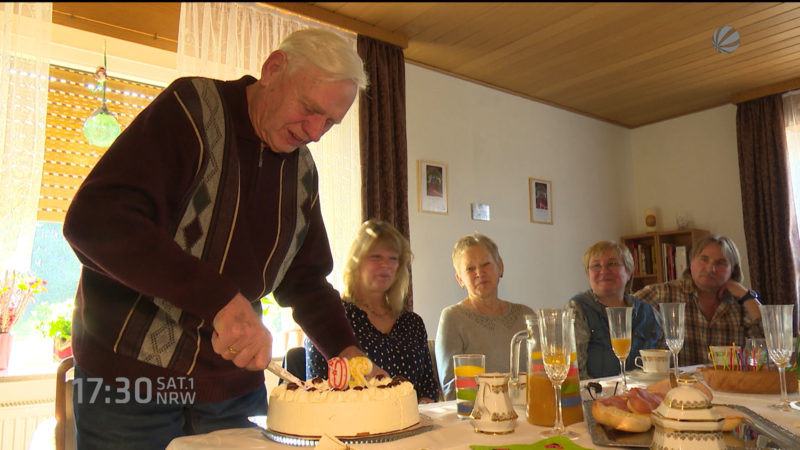 Mit 80 seinen 20. Geburtstag feiern (Foto: SAT.1 NRW)