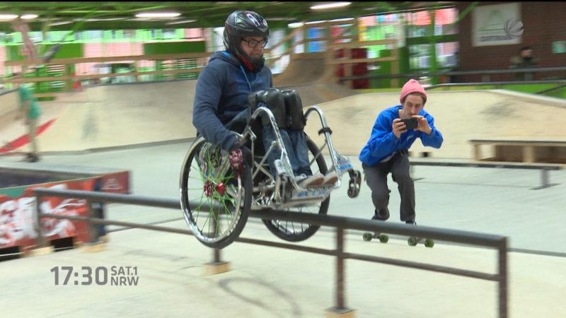 Skaten im Rollstuhl (Foto: SAT.1 NRW)