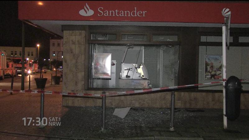 Polizei verhaftet Geldautomaten-Sprenger (Foto: SAT.1 NRW)