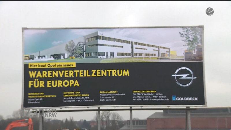 Opel baut Logistikzentrum in Bochum (Foto: SAT.1 NRW)