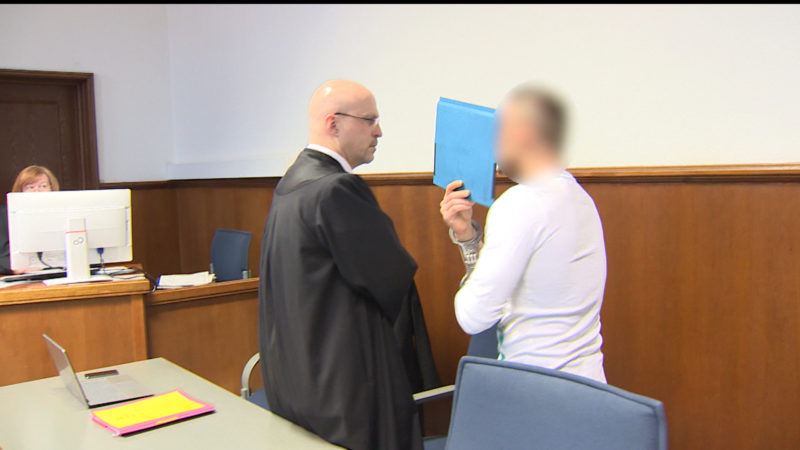 Bomben-Räuber vor Gericht (Foto: SAT.1 NRW)