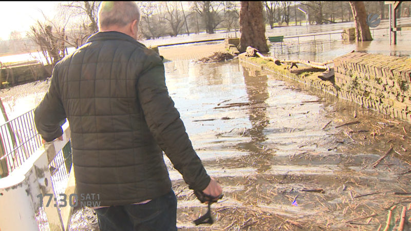 Hochwasser an der Ruhr (Foto: SAT.1 NRW)