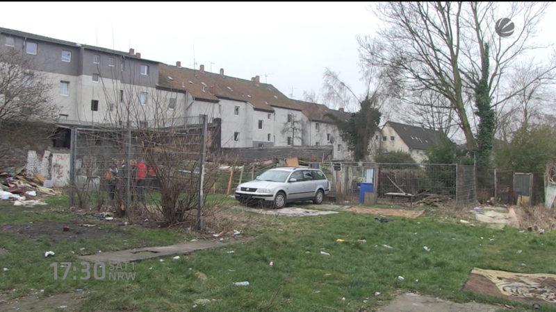 Razzia in Roma-Häusern (Foto: SAT.1 NRW)