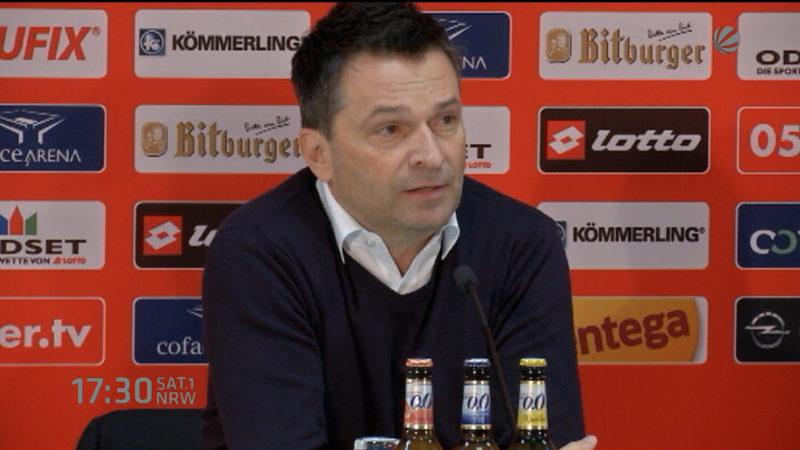 Christian Heidel stellt sich als Schalke Manager vor (Foto: SAT.1 NRW)