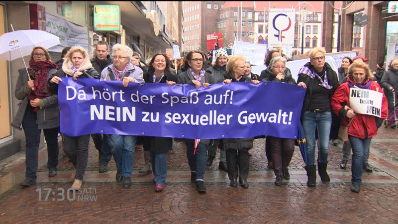 Protestmarsch gegen sexuelle Gewalt (Foto: SAT.1 NRW)