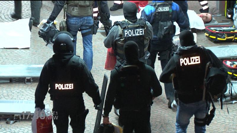 Terrorübung in Essen (Foto: SAT.1 NRW)