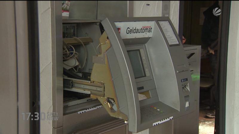 Geldautomat in Bönen gesprengt (Foto: SAT.1 NRW)