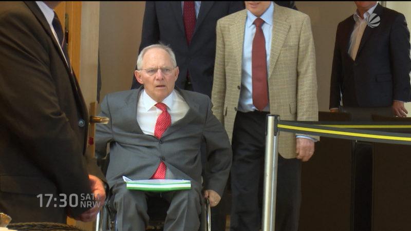 Wolfgang Schäuble im WestLB Unterssuchungsauschuss (Foto: SAT.1 NRW)