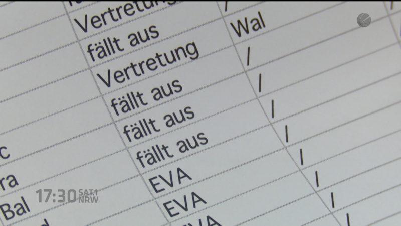 Kontrolle von Unterrichtsausfall angekündigt (Foto: SAT.1 NRW)