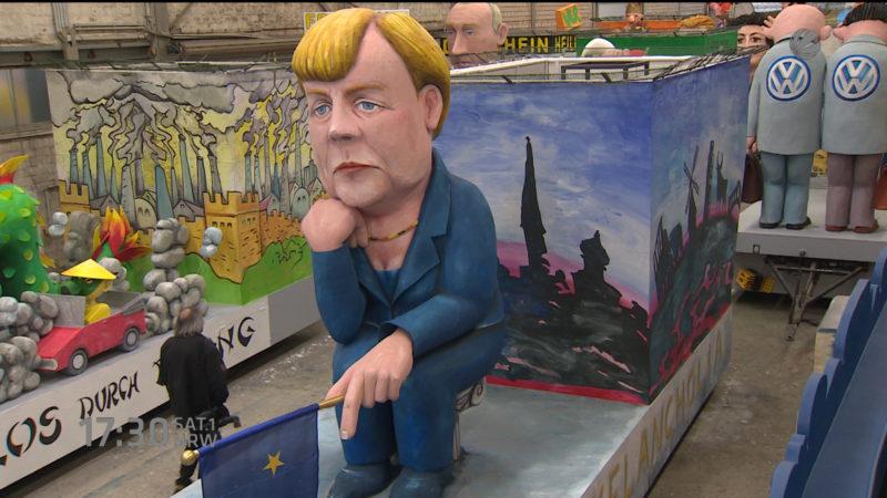 Karnevalswagen in Köln vorgestellt (Foto: SAT.1 NRW)