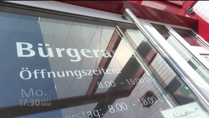 Bürgerämter wegen Flüchtlingen dicht (Foto: SAT.1 NRW)