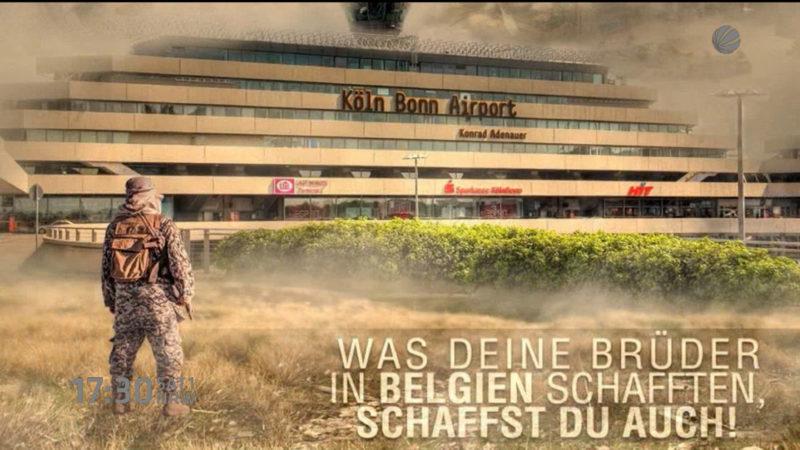 Terrordrohung gegen NRW-Flughafen? (Foto: SAT.1 NRW)