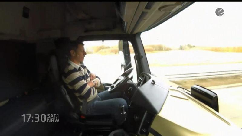 LKW ohne Fahrer (Foto: SAT.1 NRW)
