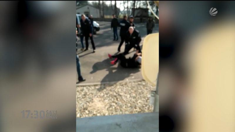 Polizeieinsatz gerät außer Kontrolle (Foto: SAT.1 NRW)