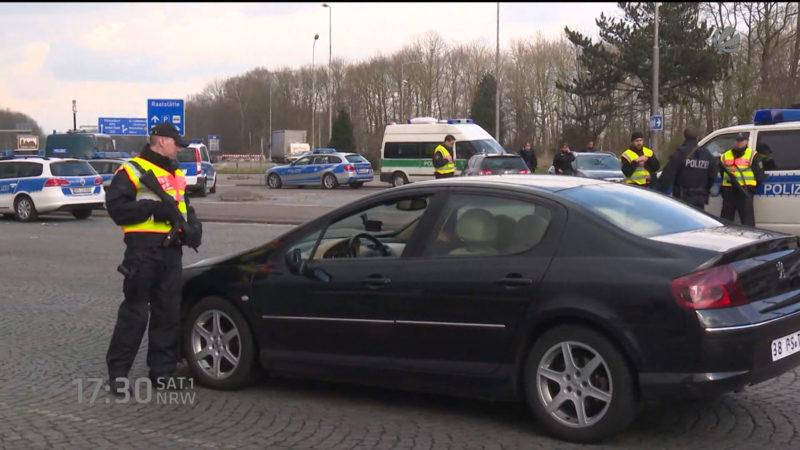 NRW verschärft Grenzkontrollen (Foto: SAT.1 NRW)