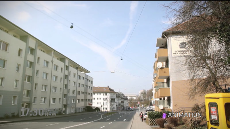 Seilbahn für Wuppertal? (Foto: SAT.1 NRW)