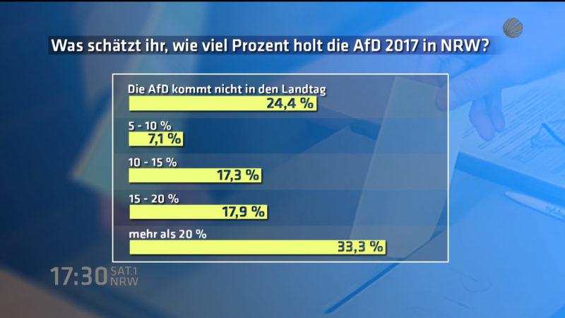 Interview: Wie weit kommt die AfD in NRW (Foto: SAT.1 NRW)