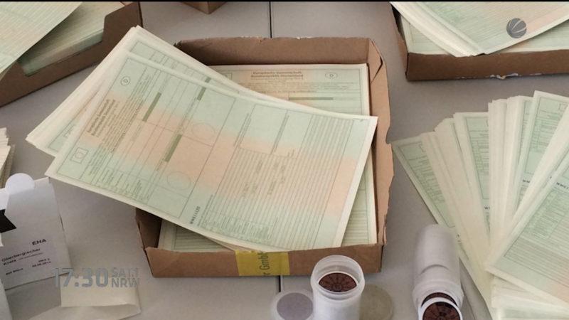 Hunderte geklaute Blankoausweise gefunden (Foto: SAT.1 NRW)