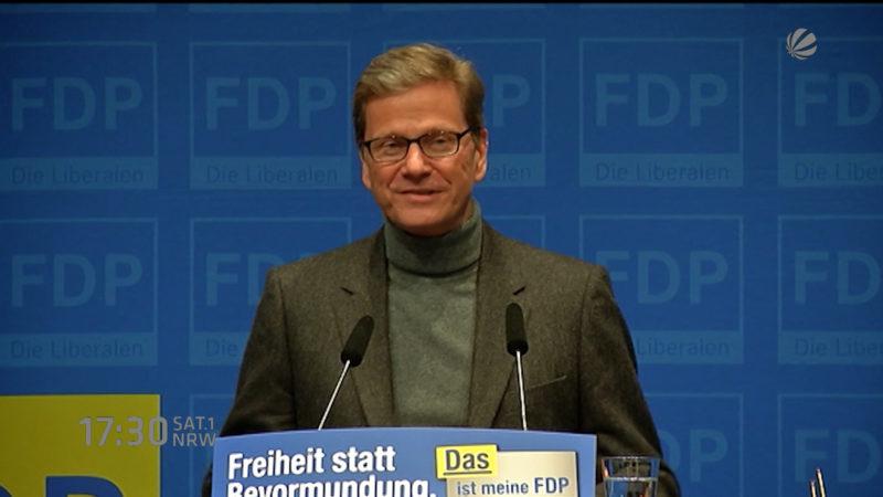 Guido Westerwelle gestorben (Foto: SAT.1 NRW)
