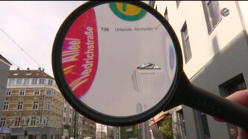 Keiner kann die Schilder lesen (Foto: SAT.1 NRW)