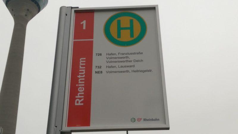 Neue Haltestellenschilder wieder weg? (Foto: Rheinbahn)