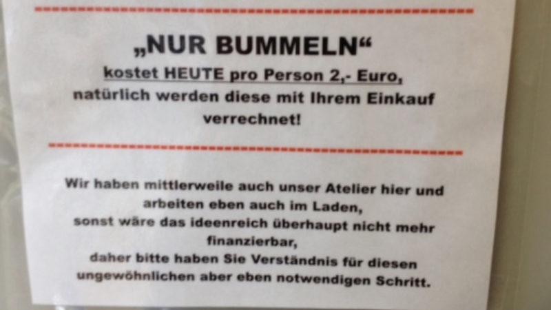 2 Euro für's Bummeln (Foto: SAT.1 NRW)