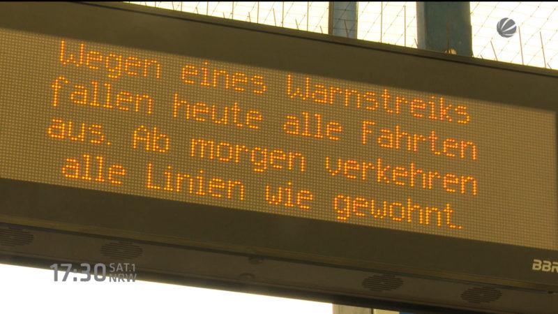 Streik in NRW (Foto: SAT.1 NRW)
