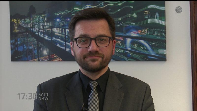 Interview mit Justizminister Thomas Kutschaty (Foto: SAT.1 NRW)