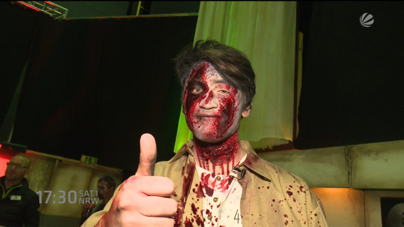 Zombiecasting im Movie Park (Foto: SAT.1 NRW)