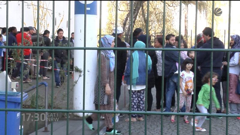 Razzia in Flüchtlingsheimen (Foto: SAT.1 NRW)