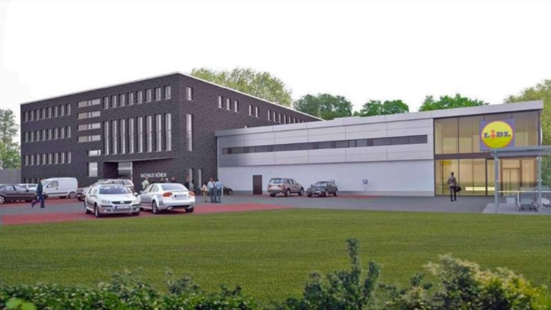 Rathaus und Lidl in Einem (Foto: Stadt Bönen)